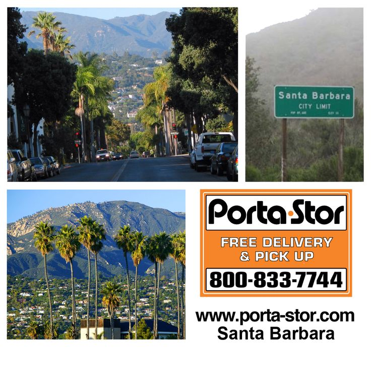 Looking to Rent Storage Containers in Santa Barbara, California? Call Porta Stor at 1-800-833-7744 for a quote to Rent Storage Containers in Santa Barbara.