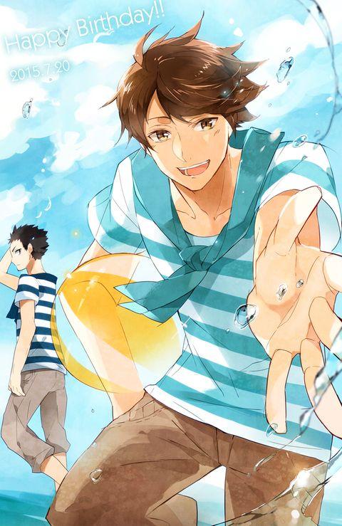 及川さん誕生日おめでとうございます!海!