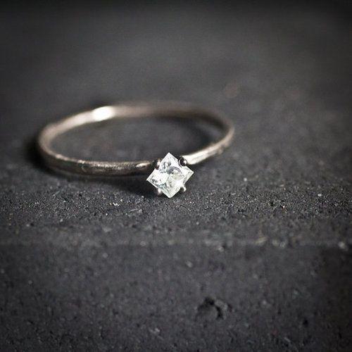 Stello with Princess Cut Diamond. Simple Diamond RingDiamond RingsSmall ...
