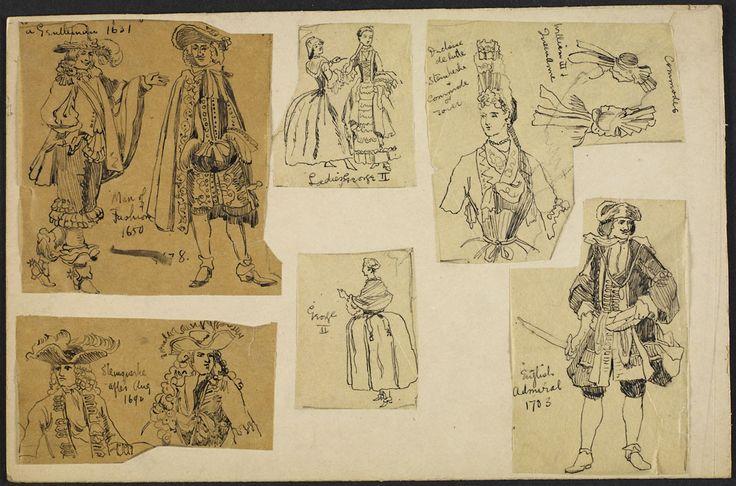 Various Costumes, 1631-1750. By: Charles William Jeffery. #newfrance #historicalfashion