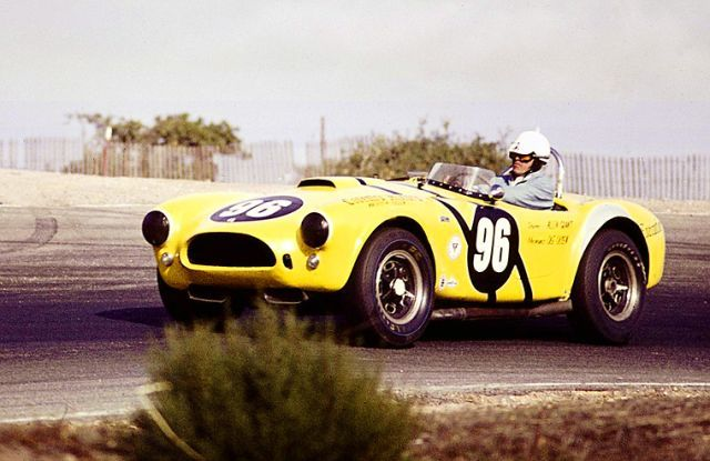 My Dad - Allen Grant - racing his Ford Cobra in the early 60's for Carroll Shelby.