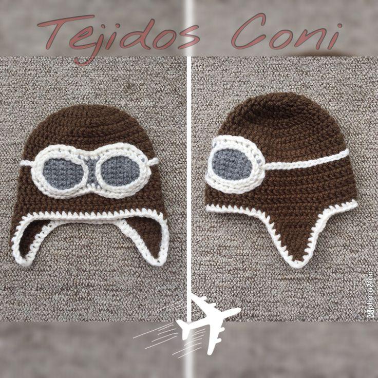 Asombroso Aviador Libre Patrón De Crochet Sombrero Galería - Manta ...