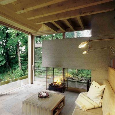 fireplace interesting shape of surround