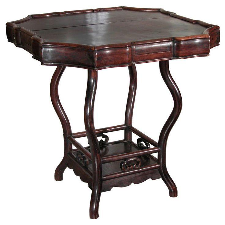 1stdibs - A Serpentine Rosewood Gaming Table explore items from 1,700  global dealers at 1stdibs.com