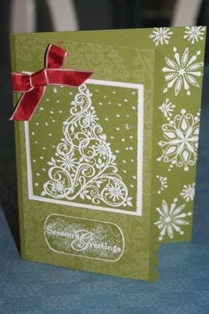 White snow swirled tree by Kathy Anthony - Cards and Paper Crafts at Splitcoaststampers