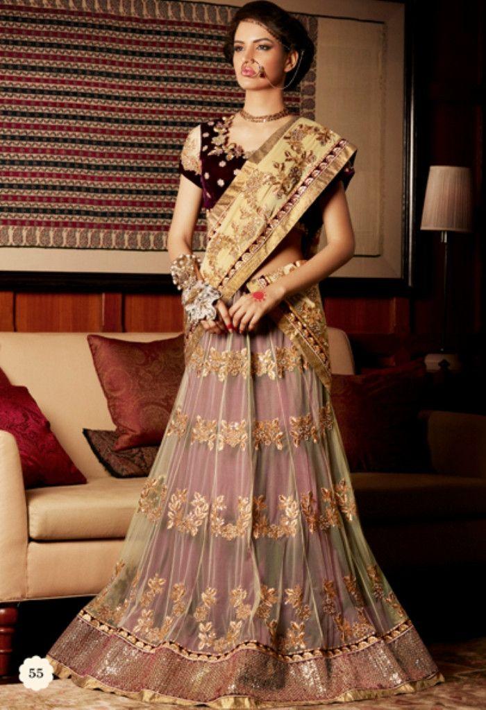 ef4cde653b Maroon Net Georgette Designer Saree 55 | Indian outfits! | Lehenga style  saree, Lehenga saree, Lehenga