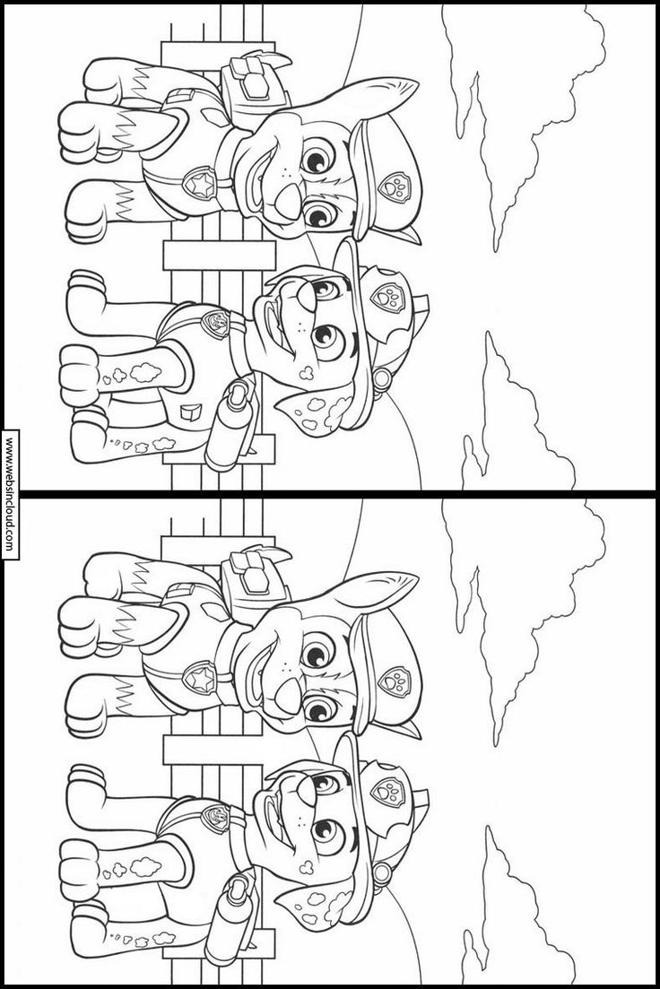 Paw Patrol 12 Printable Find the differences. Activities