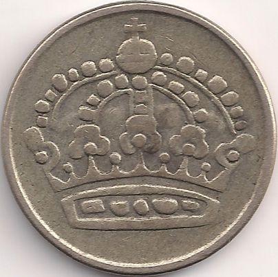 Motivseite: Münze-Europa-Nordeuropa-Schweden-Krona-0.25-1952-1961