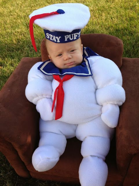 DIY Infant Stay Puft Marshmallow Man Halloween costume