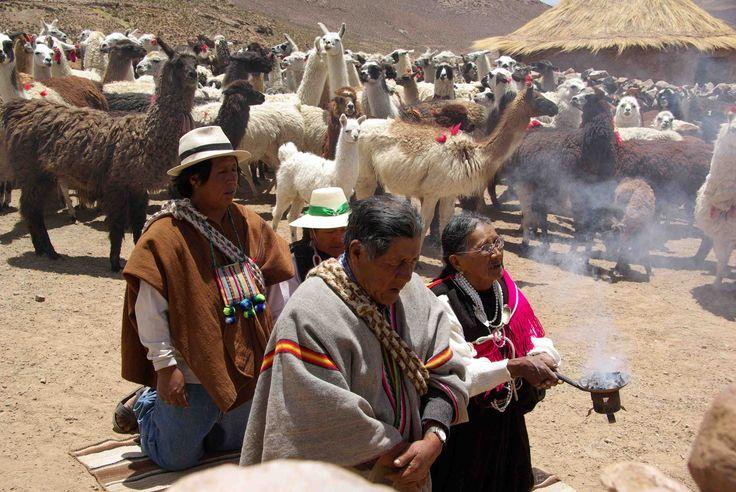 Ceremonia de la pawa, en el altiplano chileno