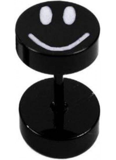 Black Dumbbel Shape Smiley Fashion Stud Earring Mens Earrings India Gold Online Men S Single