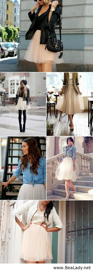 Soft tulle skirt. If only I could wear this look in Quincy and look fashionable instead of like a crazy lady. People are so unaware!!