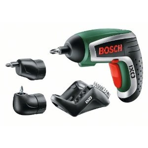 Bosch Akku Schrauber IXO IV Set mit Winkel- und Exzenteraufsatz