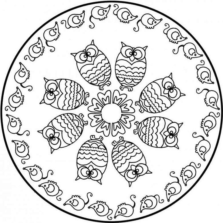 Die besten 25 Mandala tiere Ideen auf Pinterest  Ausmalbilder
