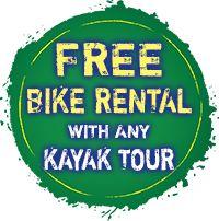 Free bike rental with any kayak tour