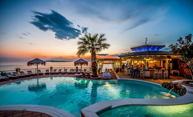 Amazing colors! #DelfinoBlu #Sunset #Corfu