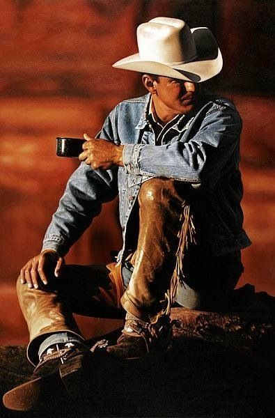 """A cowboy is a man with guts and a horse."" ~Unknown and coffee :)"