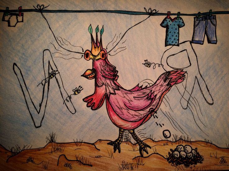 #ART, #Drawings, chicken, by Natalie R