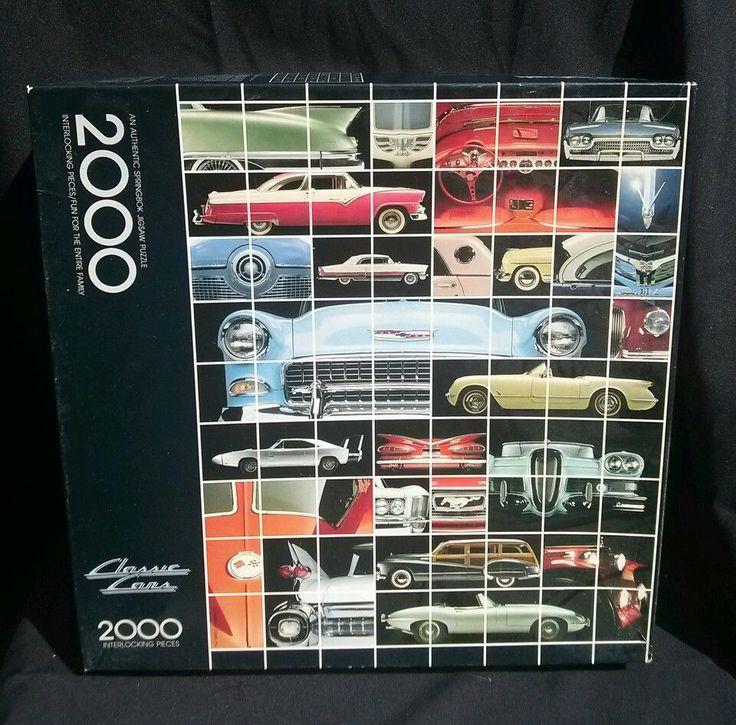 HALLMARK SPRINGBOK CLASSIC CARS PUZZLE 2000 Pieces #Springbok
