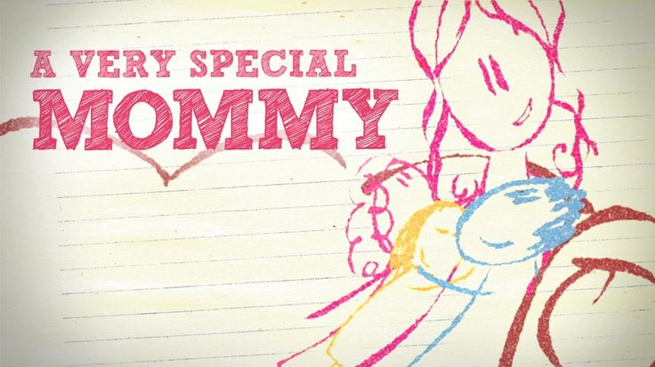 Watch A Very Special Mommy. Crayon drawings animate these real-life responses from boys and girls as they talk about their mothers. Both entertaining and emotional, this video is sure to be a very special addition to your Mother's Day Service.