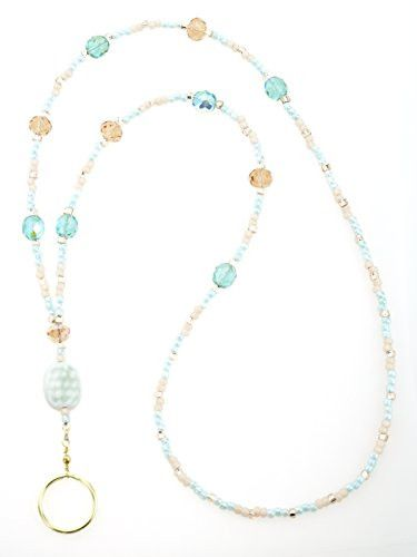 The watercolors of a sunrise over the ocean bring this lanyard to life. Light peach and turquoise blend together beautifully with just the right amount of sparkle! Beautiful and durable glass seed bea