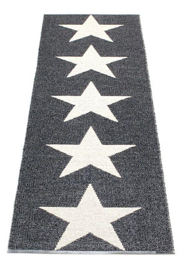 Køb Pappelina - Viggo Star Gulvløber 70 x 150 cm. - Sort Metallic - 849kr