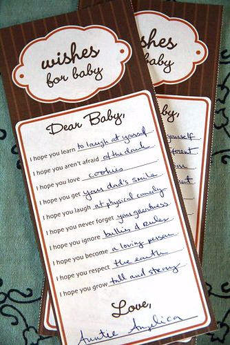 More Wishes For Baby: An alternative design for sharing wishes for baby, our free download comes in blue and pink or pink and orange!
