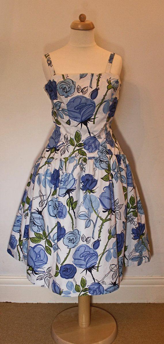 Fabulous Iconic Horrockses 1950's Dress by HoityToityVintage