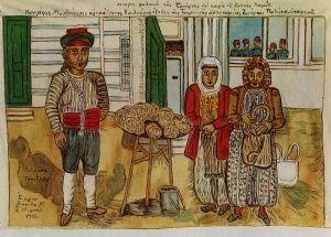 Κουλουροπωλης Σμυρνης, Θεόφιλος Κεφαλάς - Χατζημιχαήλ | Καμβάς, αφίσα, κορνίζα, λαδοτυπία, πίνακες ζωγραφικής | Artivity.gr