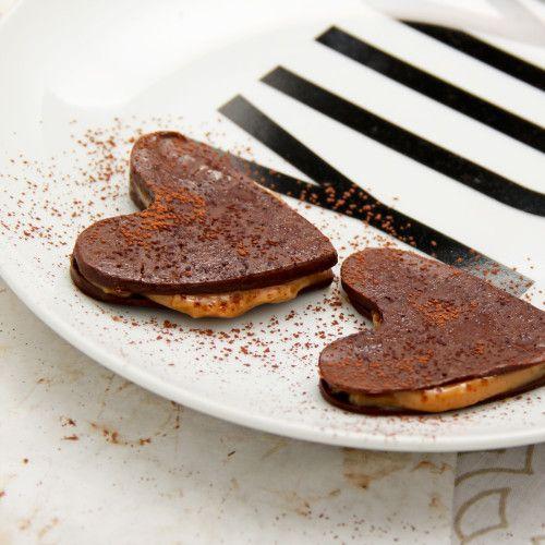 Chocolate & Caramel Hearts
