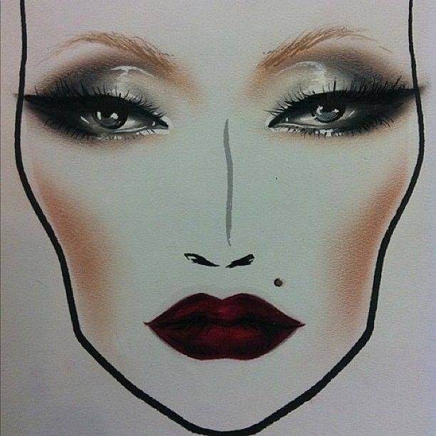 Dramatic face chart MAC