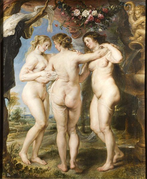 Les tres Gràcies (1635) Rubens. Museu del Prado (Madrid)