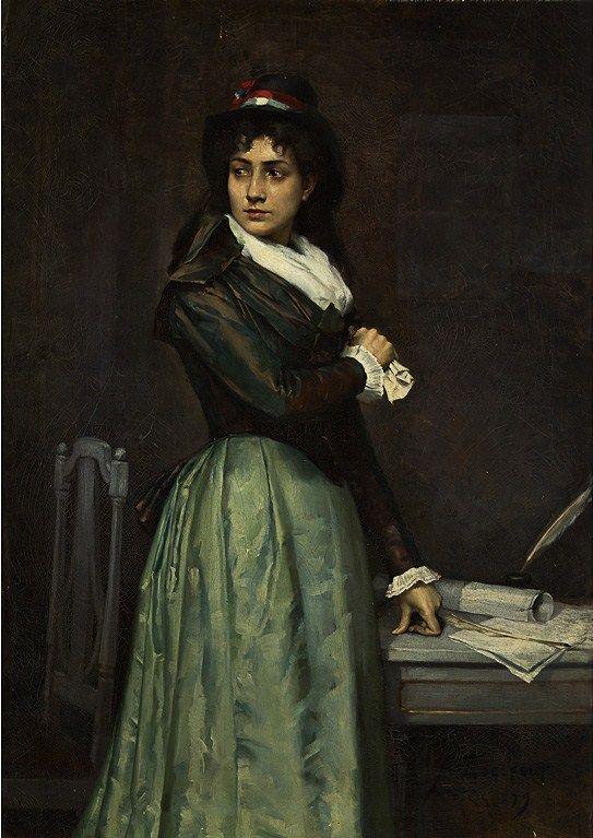 Albert Edelfelt, Une Citoyenne, 1879