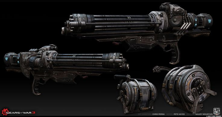 Vulcan Gatling Gun - Gearspedia, the Gears of War wiki - Gears of War, Gears of War 2, weapons, and more