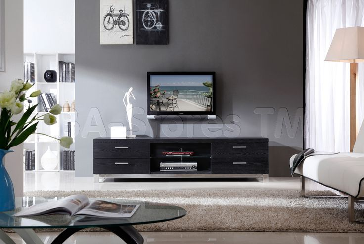 B-Modern Promoter TV Stand in Black Oak by B-Modern