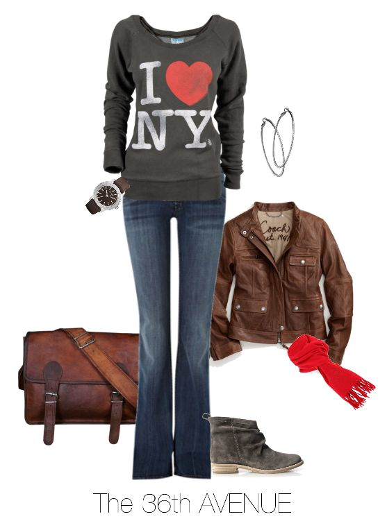 Cute Outfit Ideas for School | Casual Fall-Winter Outfit by the36thavenue.com Plus more outfit ideas!