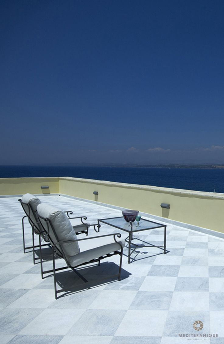 Views from the Royal Suite Terrace at the Poseidonion Grand Hotel in Spetses, Greece