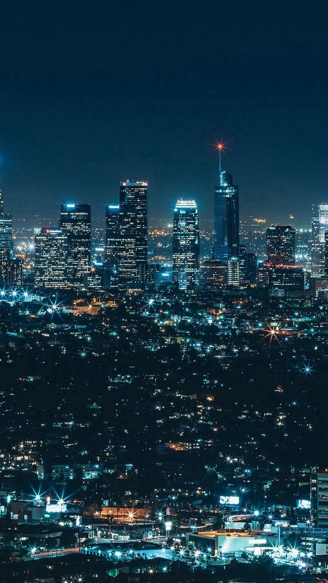 City View Night Architecture Building Dark iPhone 5s