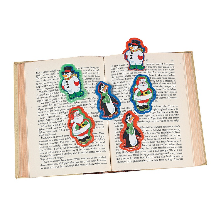 Holiday Character Bookmarks How to