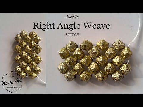 Right Angle Weave Stitch   How To Tutorial - YouTube