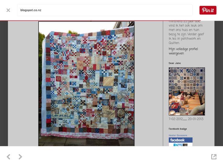 Scrappy dutch quilt