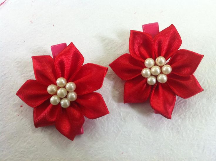 DIY Flowers and Bows : How To Make Beautiful Ribbon Flower for Hair Accessories