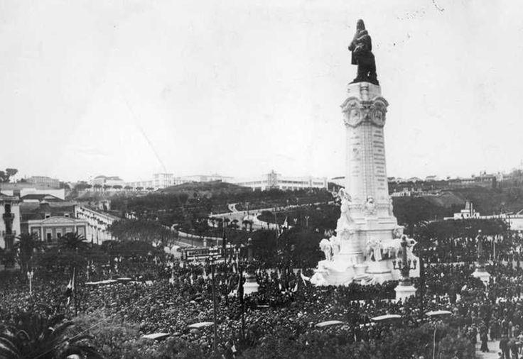 Inauguração da Estátua do Marquês de Pombal, Lisboa - 1934