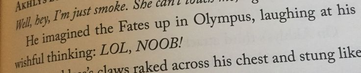 Top marks to Rick Riordan for very sophisticated and professional word choice here.