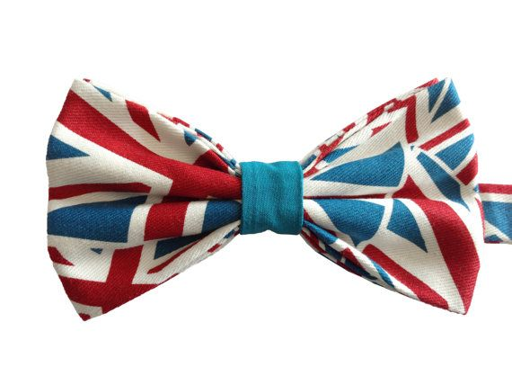 Union Jack Cotton Bow Tie Pre-Tied by WatfordTies on Etsy