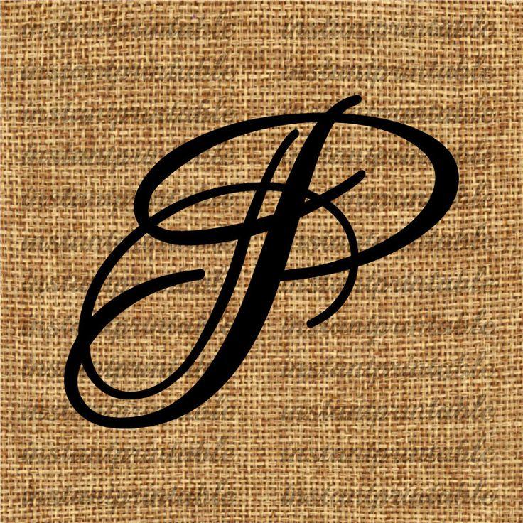 Monogram Initial Letter P Letter Clip Art By