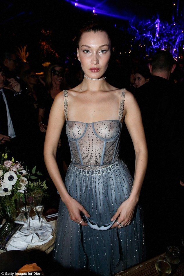 Oy! This comes after Bella Hadid showed off her chest when she wore a see-through dress to the Christian Dior ball in Paris on Monday