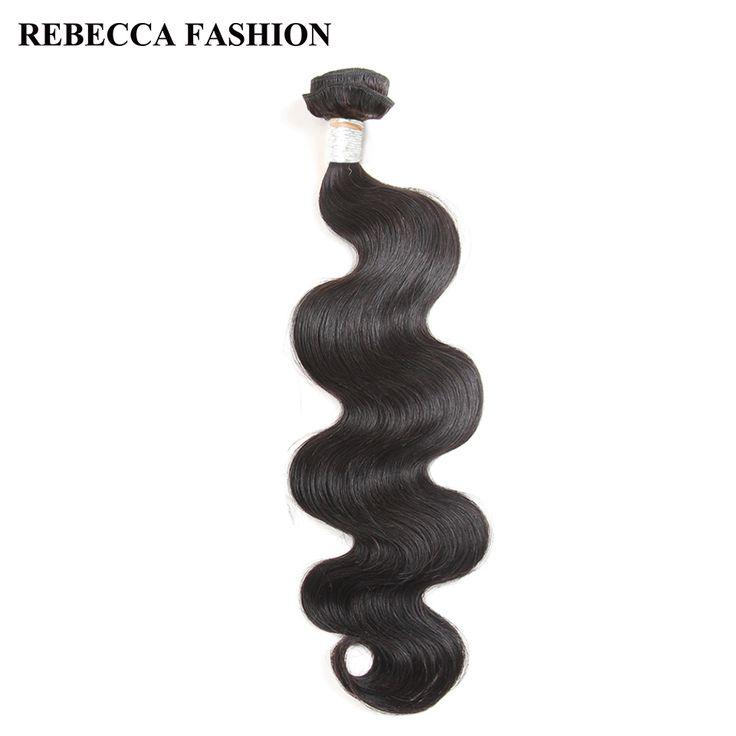 Rebecca Brazilan Body Wave Human Hair Bundles Remy Hair Weave 1 Bundle 8 to 30 inch Hair Extension Salon Bundle hair Weft Deal