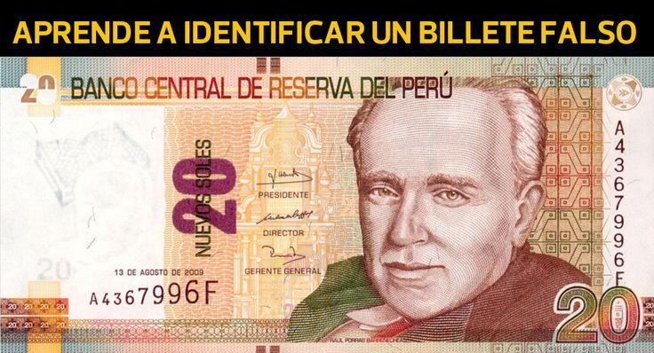 TOUCH esta imagen: Aprende a identificar billetes falsos by El Comercio