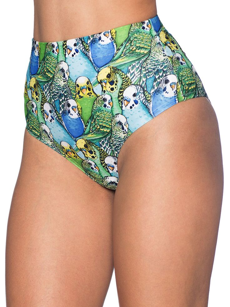 Budgie Smugglers Cheeky Nana Suit Bottoms - 48HR (AU $45AUD) by Black Milk Clothing
